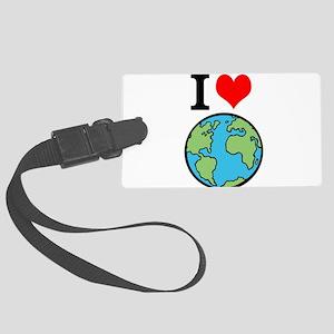 I Love Earth Luggage Tag