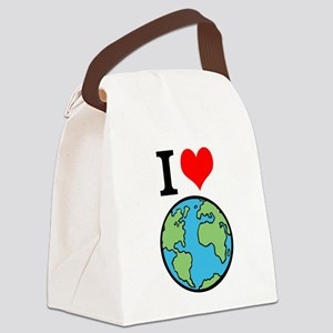 I Love Earth Canvas Lunch Bag