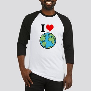 I Love Earth Baseball Jersey