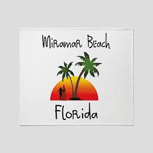 Miramar Beach Florida Throw Blanket