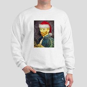 Van Gogh Santa Sweatshirt