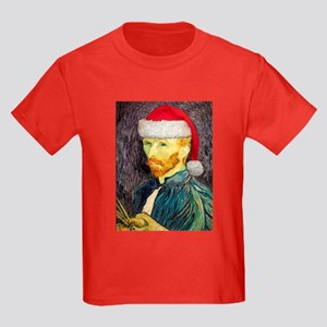 Van Gogh Santa Kids Color T-Shirt