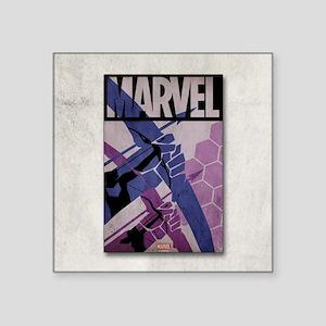 "Hawkeye Bows Square Sticker 3"" x 3"""