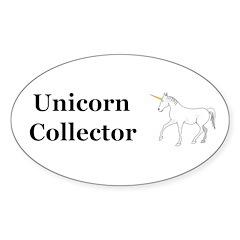 Unicorn Collector Sticker (Oval 10 pk)