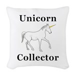 Unicorn Collector Woven Throw Pillow