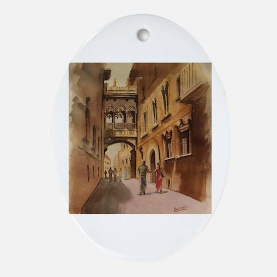 Cute Calle Oval Ornament