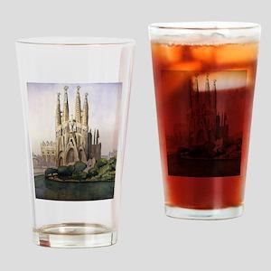 Sagrada familia Drinking Glass