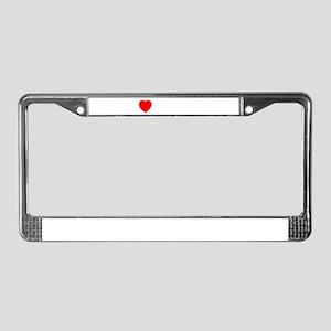 I Love Villach License Plate Frame