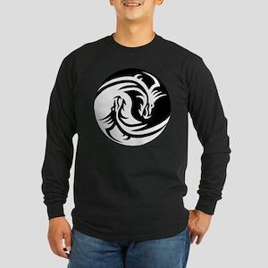 Yin Yang Dragon Long Sleeve T-Shirt