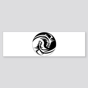 Yin Yang Dragon Bumper Sticker