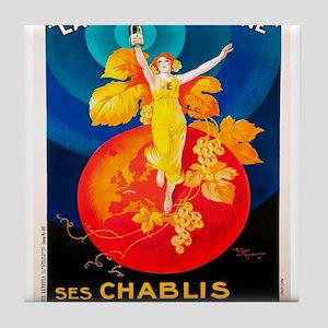 Vintage poster - La Chablisienne Tile Coaster