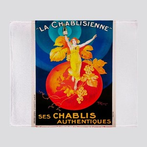Vintage poster - La Chablisienne Throw Blanket