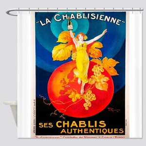 Vintage poster - La Chablisienne Shower Curtain