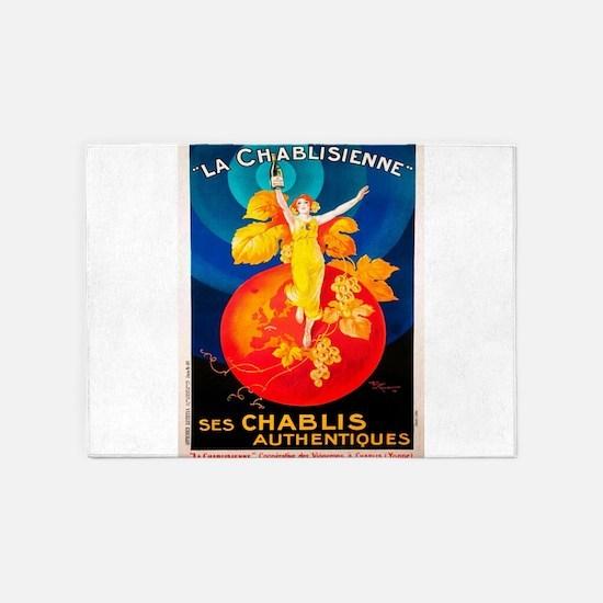 Vintage poster - La Chablisienne 5'x7'Area Rug