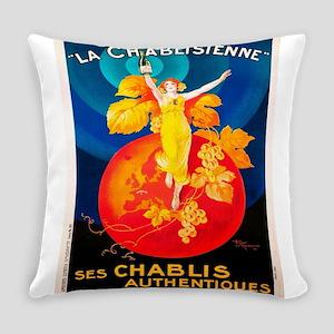 Vintage poster - La Chablisienne Everyday Pillow