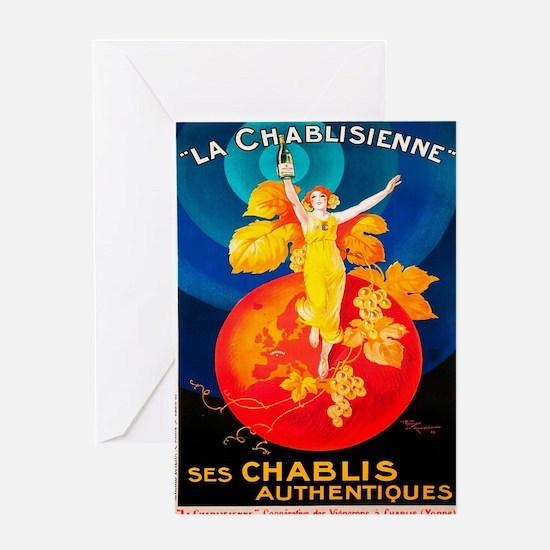 Vintage poster - La Chablisienne Greeting Cards