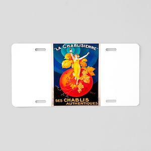 Vintage poster - La Chablis Aluminum License Plate