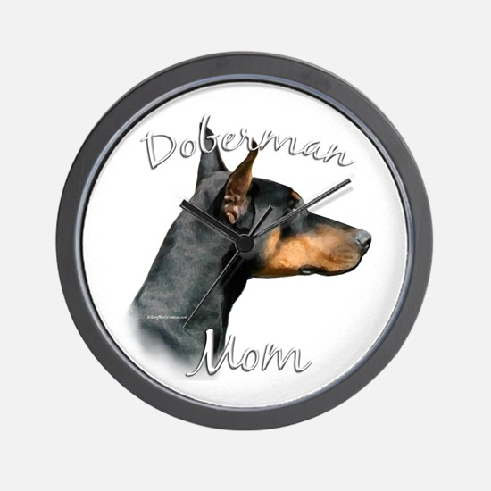 Dobie Mom2 Wall Clock