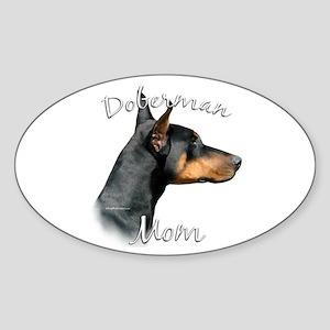 Dobie Mom2 Oval Sticker