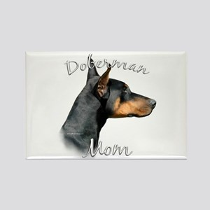 Dobie Mom2 Rectangle Magnet