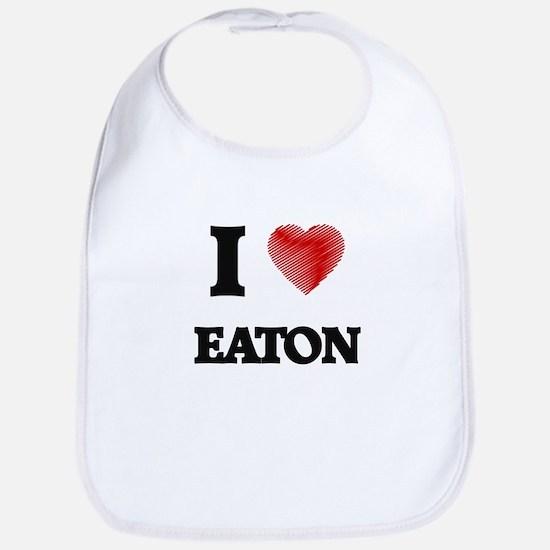 I Love Eaton Bib