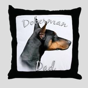 Dobie Dad2 Throw Pillow