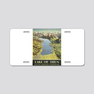 Vintage poster - Lake of Th Aluminum License Plate