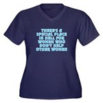 There's a sp Women's Plus Size V-Neck Dark T-Shirt