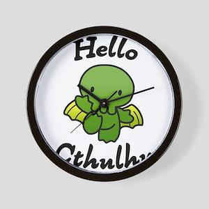 Hello cthulhu Wall Clock