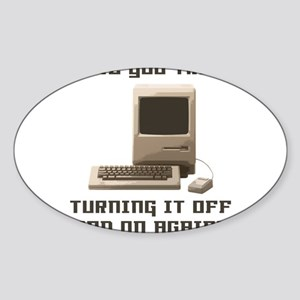 Turning it off and on again Sticker