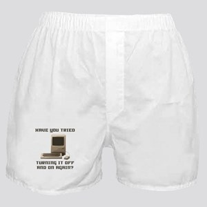 Turning it off and on again Boxer Shorts