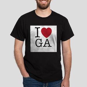 I Love GA Georgia Dark T-Shirt