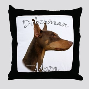 Dobie Mom2 Throw Pillow