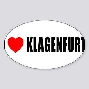 I Love Klagenfurt, Austria Oval Sticker