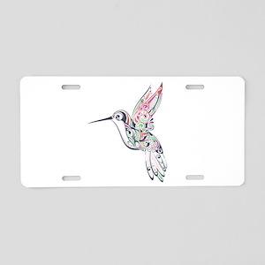 Hummingbird Aluminum License Plate
