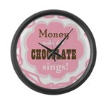 Chocolate Sings Large Wall Clock