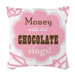 Chocolate Sings Woven Throw Pillow