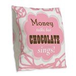 Chocolate Sings 2-Sided Burlap Throw Pillow