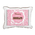 Chocolate Sings Rectangular Canvas Pillow