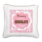 Chocolate Sings Square Canvas Pillow