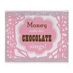 Chocolate Sings Chocolate Text Throw Blanket