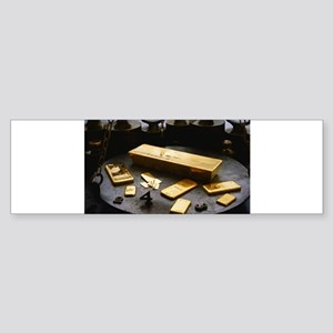 gold bar Bumper Sticker