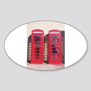 phone booth Sticker