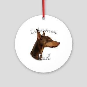 Dobie Dad2 Ornament (Round)