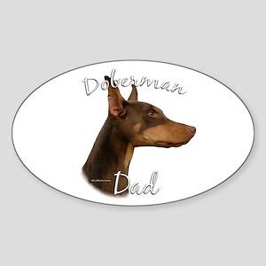 Dobie Dad2 Oval Sticker