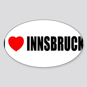 I Love Innsbruck, Austria Oval Sticker