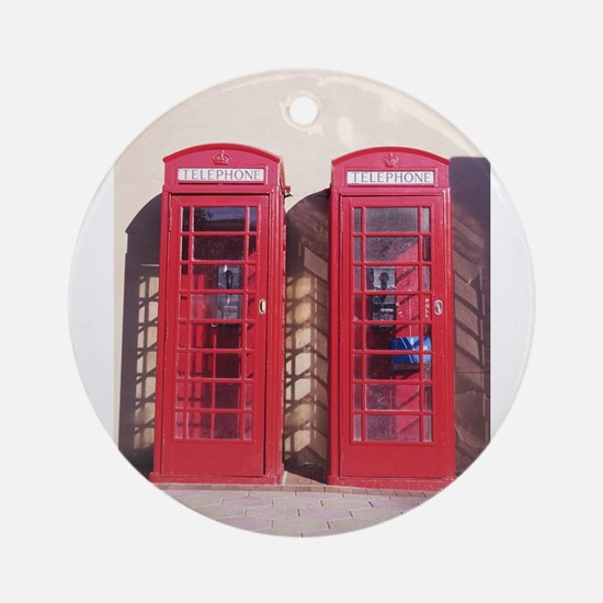 phone booth Round Ornament