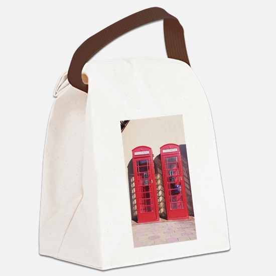 phone booth Canvas Lunch Bag