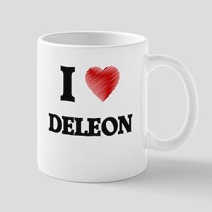 I Love Deleon Mugs