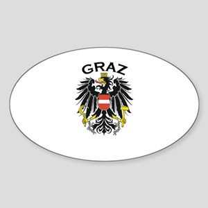 Graz, Austria Oval Sticker